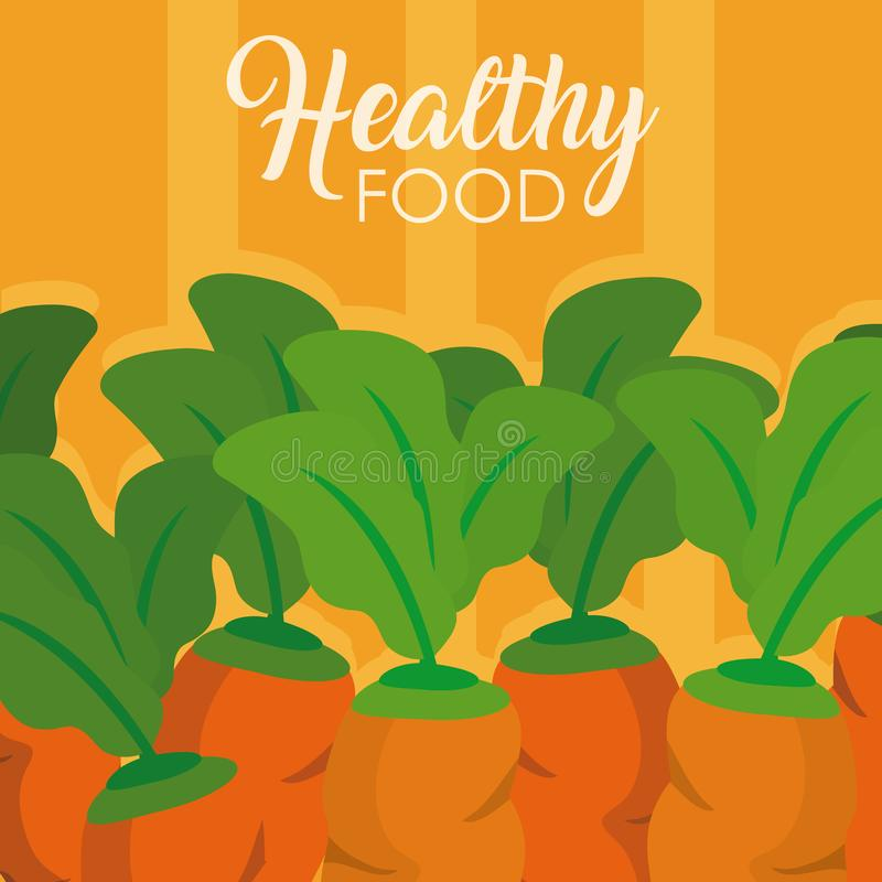 Alimento sano delle carote illustrazione vettoriale