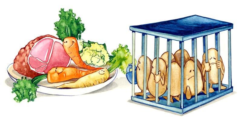 Alimento sano di dieta royalty illustrazione gratis