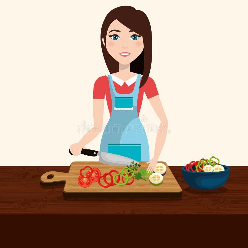 Alimento sano e delizioso illustrazione vettoriale