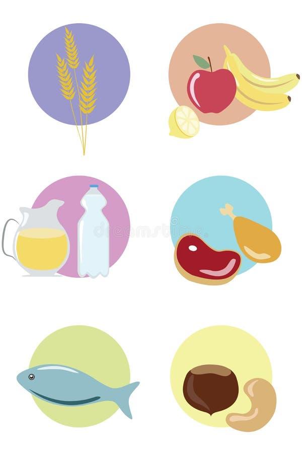 Alimento sano infographic fotografia stock libera da diritti