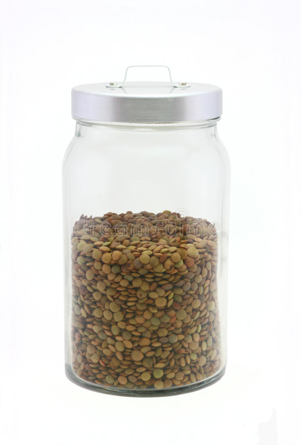 Alimento sano - lenticchie fotografie stock