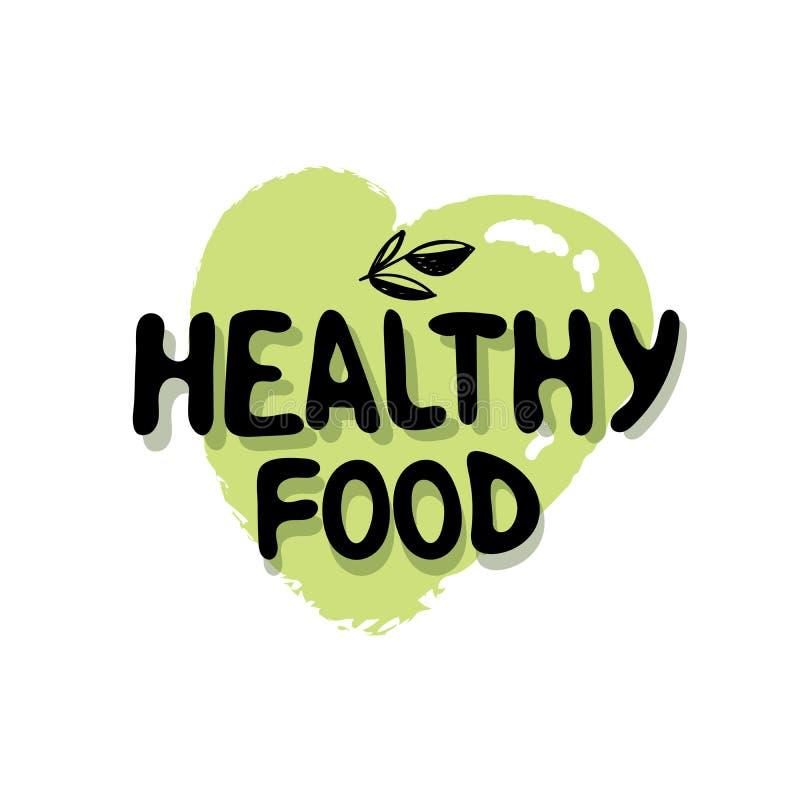 Alimento sano Modello dell'etichetta della foglia di verde di logo del vegano per il vegano o la progettazione di pacchetto veget illustrazione di stock