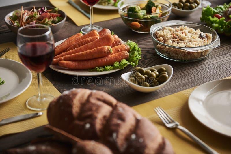 Alimento sano per la cena saporita immagini stock libere da diritti