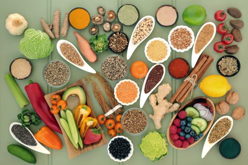 Alimento sano per la disintossicazione del fegato fotografie stock