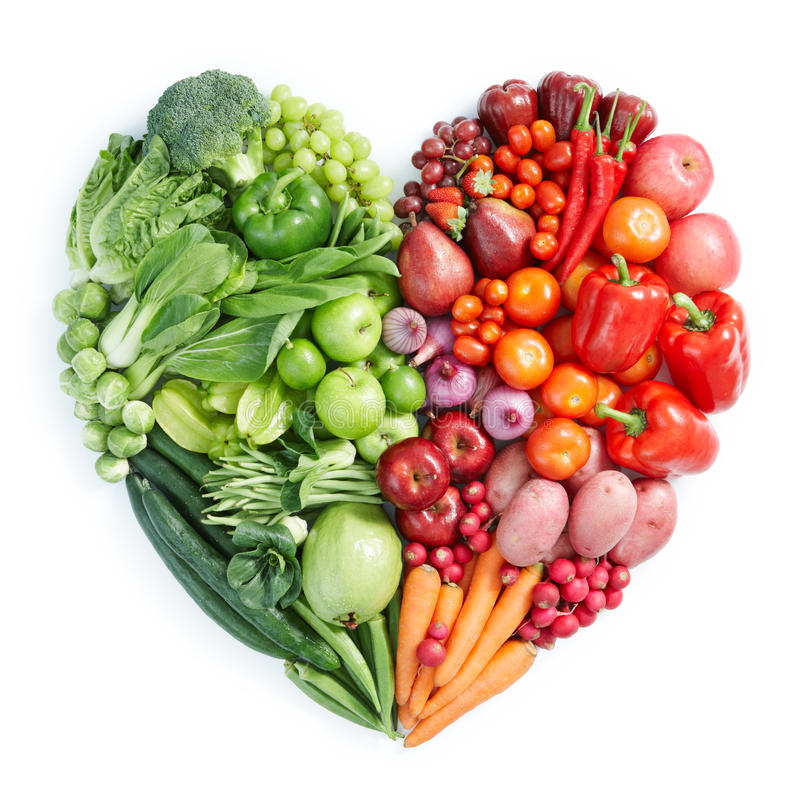 Alimento sano verde e rosso fotografia stock libera da diritti