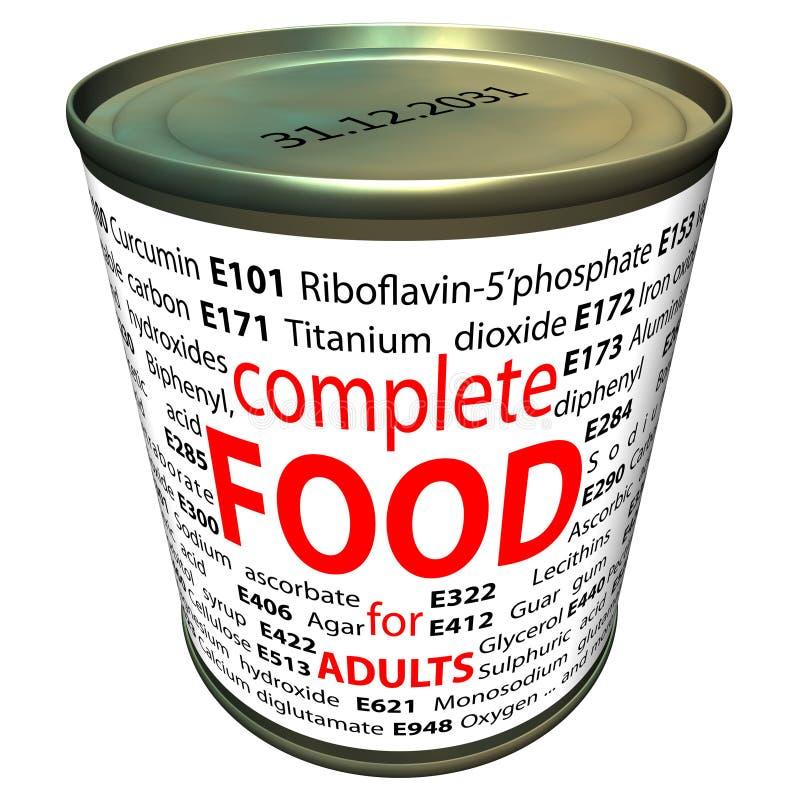 Alimento sano y química - aditivos alimenticios stock de ilustración