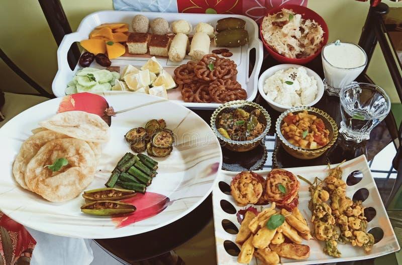Alimento saporito e colourful delizioso in India fotografia stock