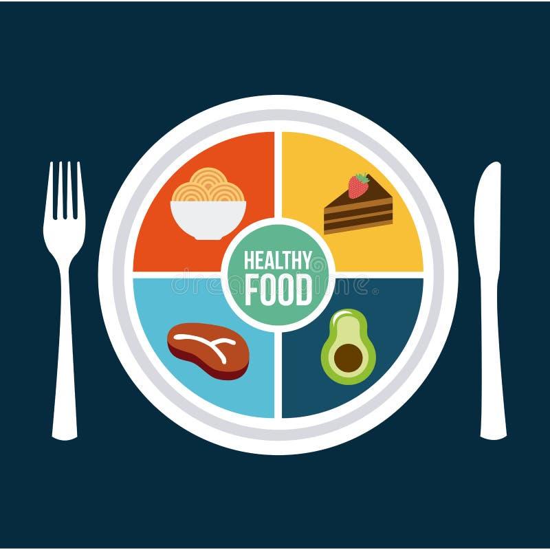 Alimento saudável ilustração royalty free