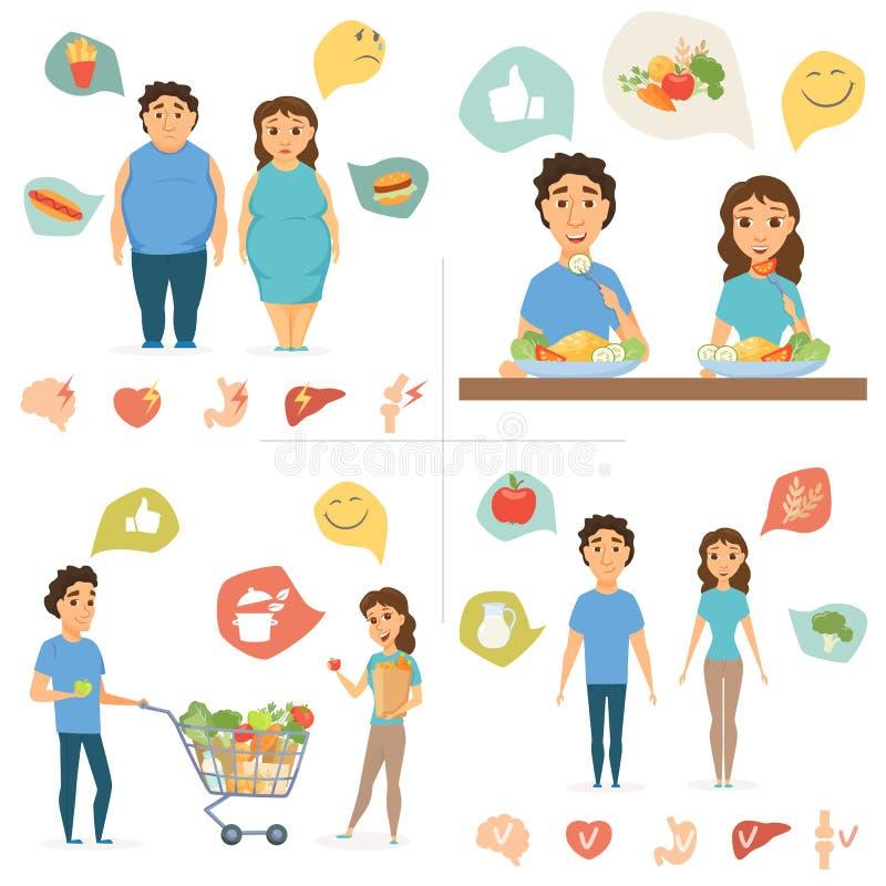 Alimento saudável Infographics ilustração royalty free