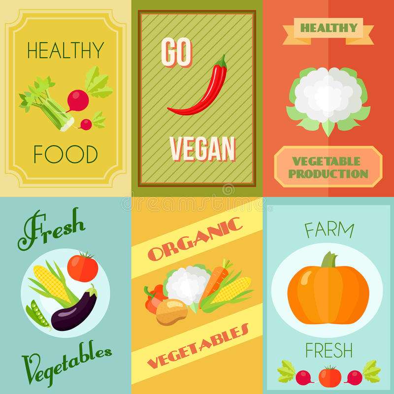 Alimento saudável Mini Poster Set ilustração royalty free