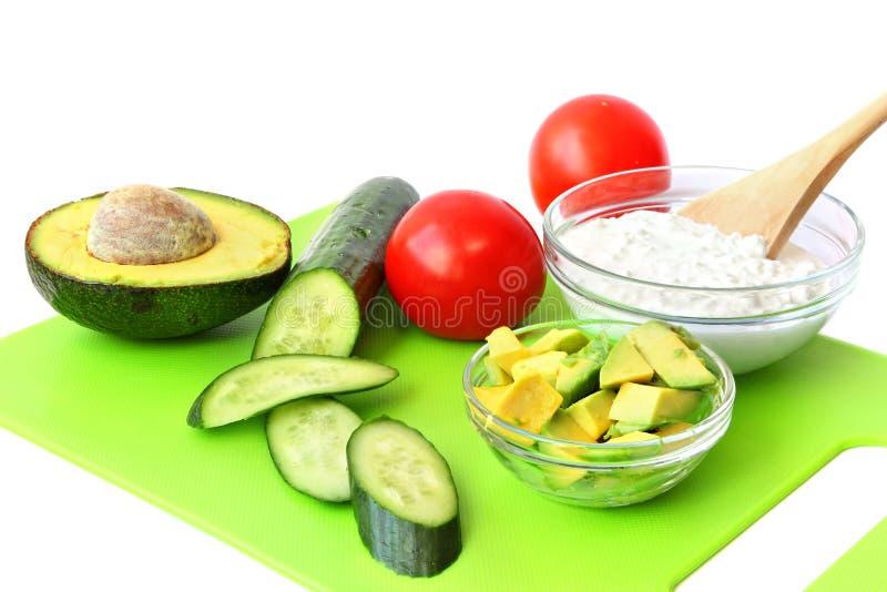 Alimento saudável para o café da manhã ou o petisco mediterrâneo imagem de stock