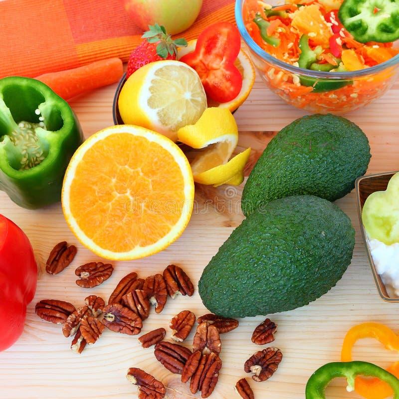 Alimento saudável - vida saudável fotografia de stock