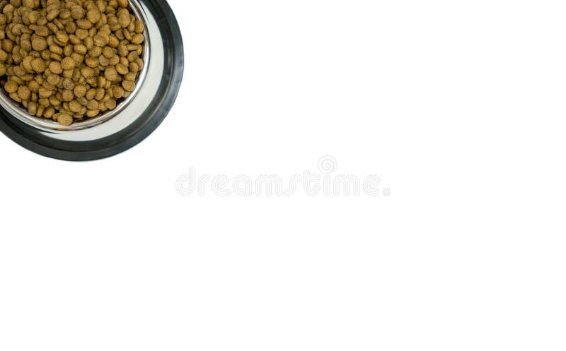 Alimento seco da vista superior no fundo branco isolado imagens de stock royalty free