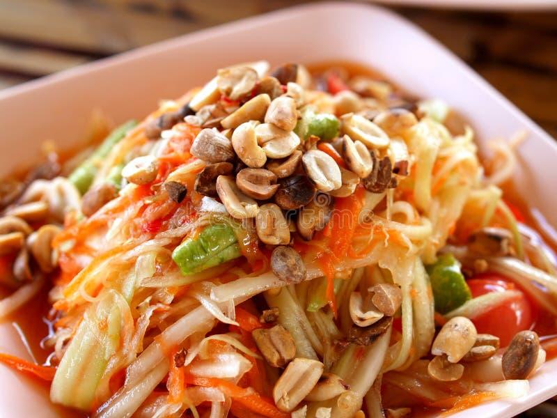 Alimento/somtum tailandesi 01 fotografia stock libera da diritti