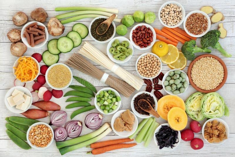Alimento super macrobiótico fotografia de stock