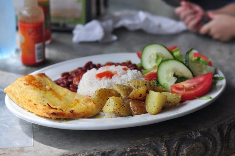 Alimento típico de Rican da costela de Casado foto de stock royalty free