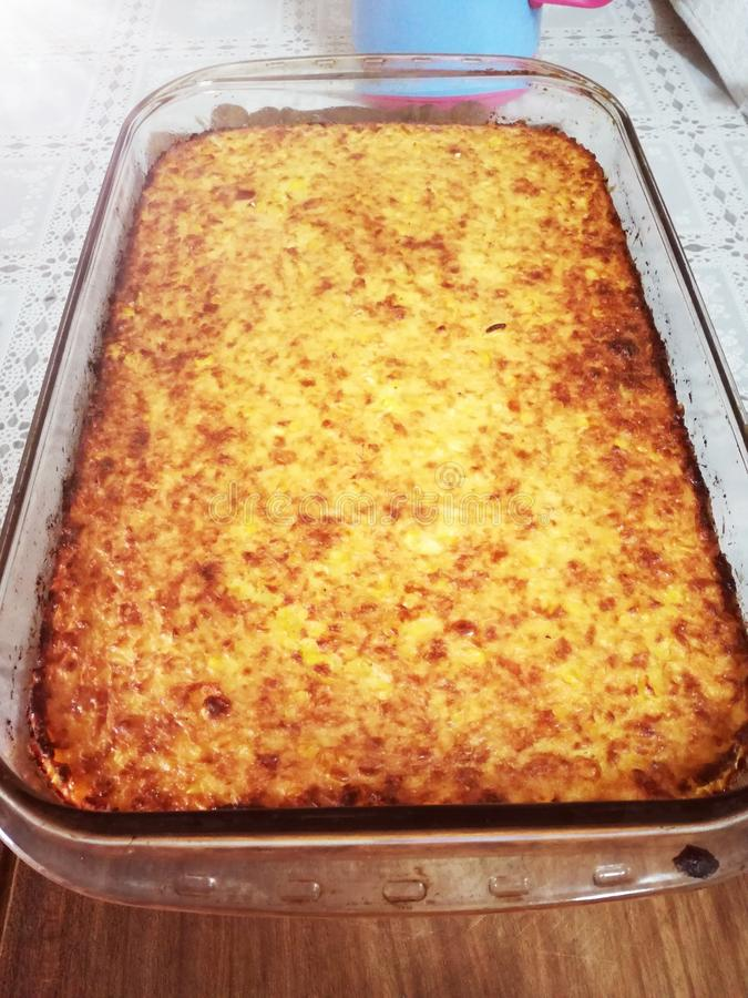 Alimento típico de Sopa de Paraguai fotos de stock royalty free