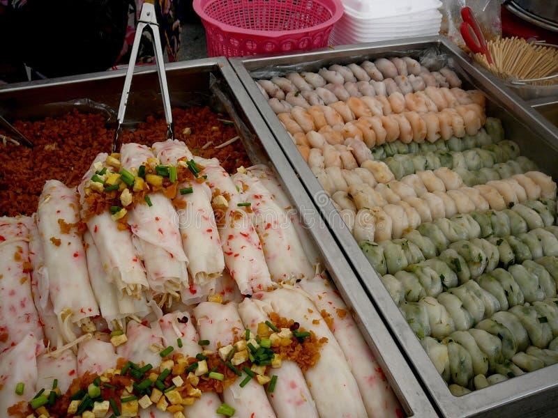 Alimento tailandés de la calle fotografía de archivo libre de regalías