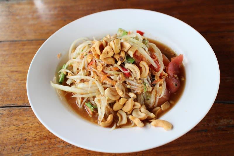 Alimento tailandés de la ensalada de la papaya imagen de archivo