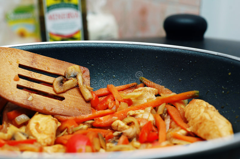 Alimento tailandés - fritada #3 del Stir imágenes de archivo libres de regalías