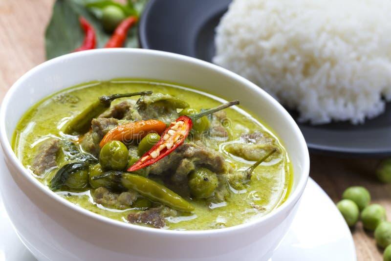 Alimento tailandês: Caril verde imagem de stock royalty free