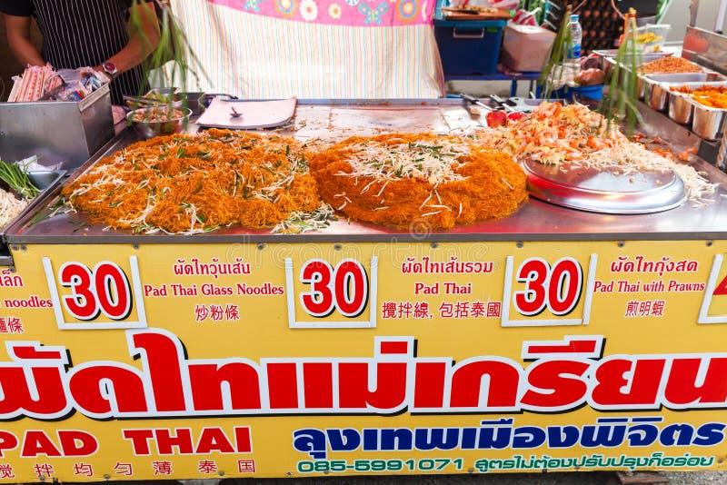 Alimento tailandês de Tailândia na rua Banguecoque fotografia de stock