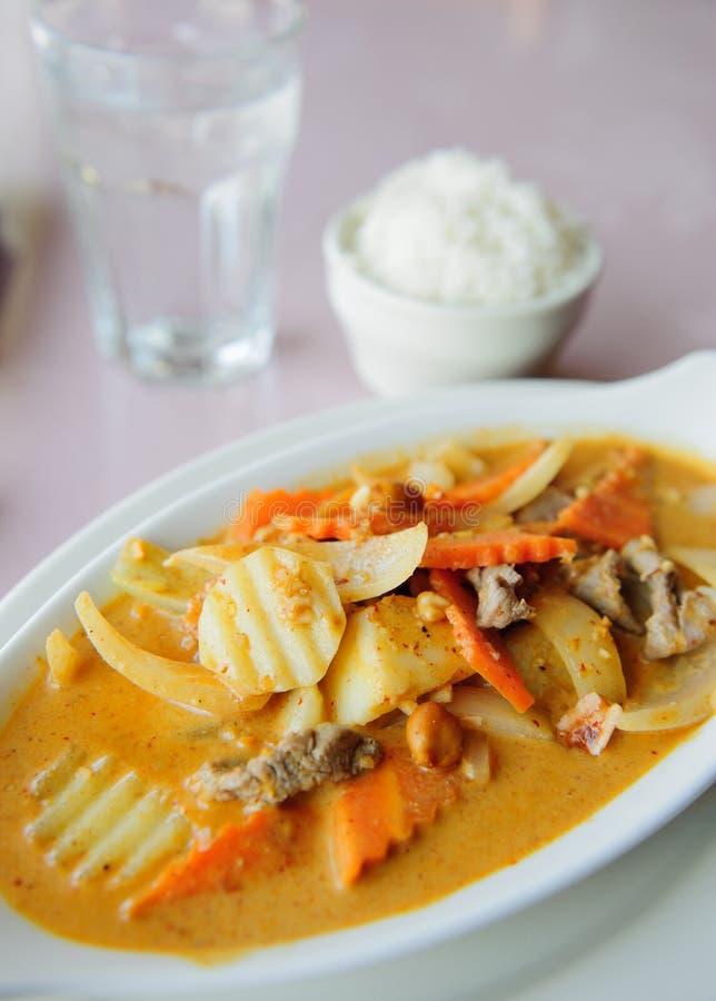 Alimento tailandês do caril imagem de stock royalty free