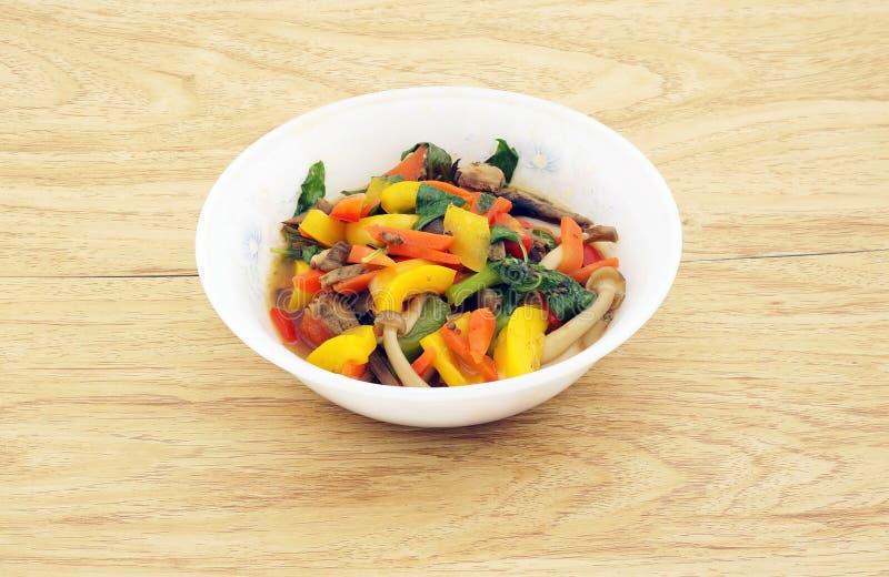 Alimento tailandês do vegetariano fotografia de stock