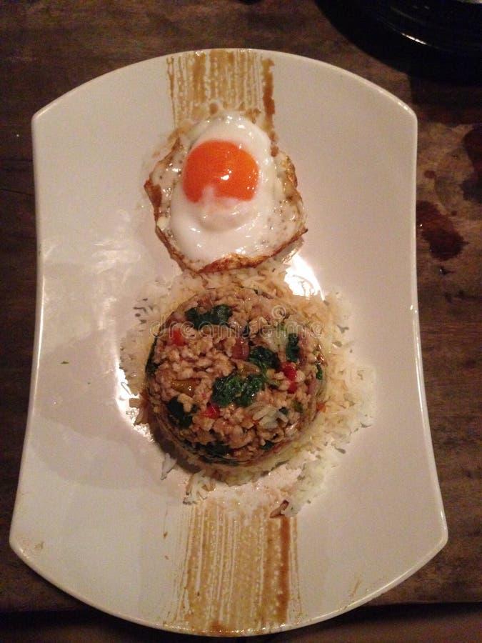 Alimento tailandês favorito do moosab de Krakow fotografia de stock