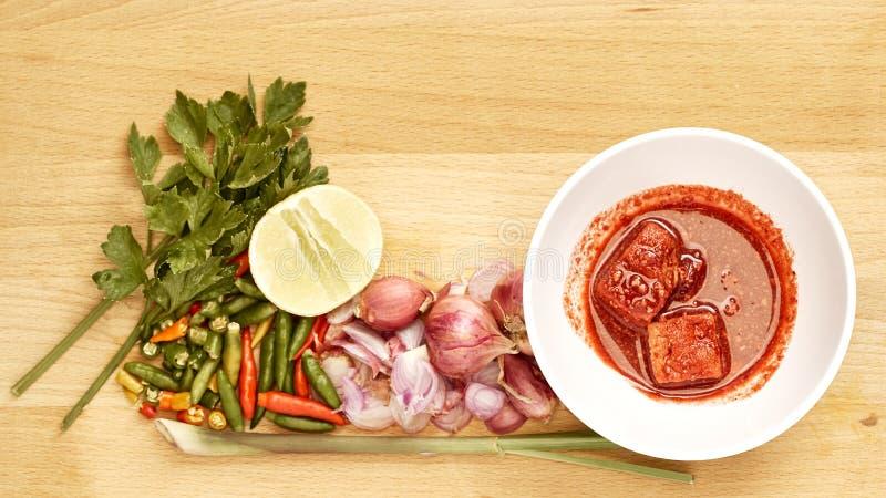 Alimento tailandês fermentado do estilo da salada picante de Bean Curd (Fu Ru), parte superior vi imagem de stock