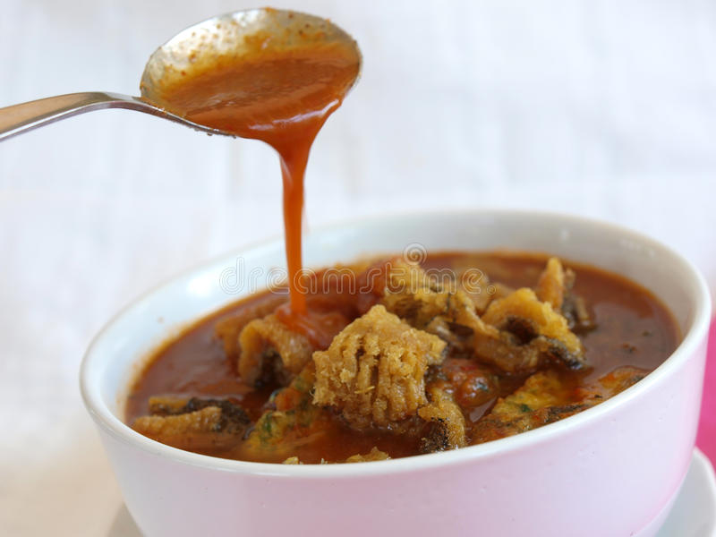 Alimento tailandês peixes fritados foto de stock royalty free