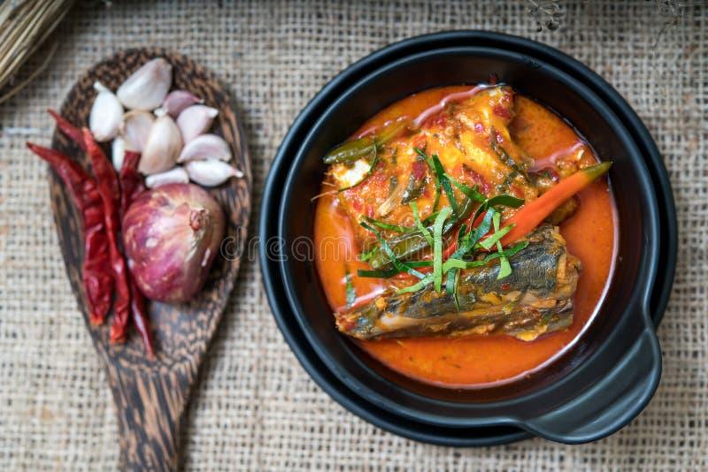 Alimento tailandese dello sgombro di Chuchi fotografie stock libere da diritti