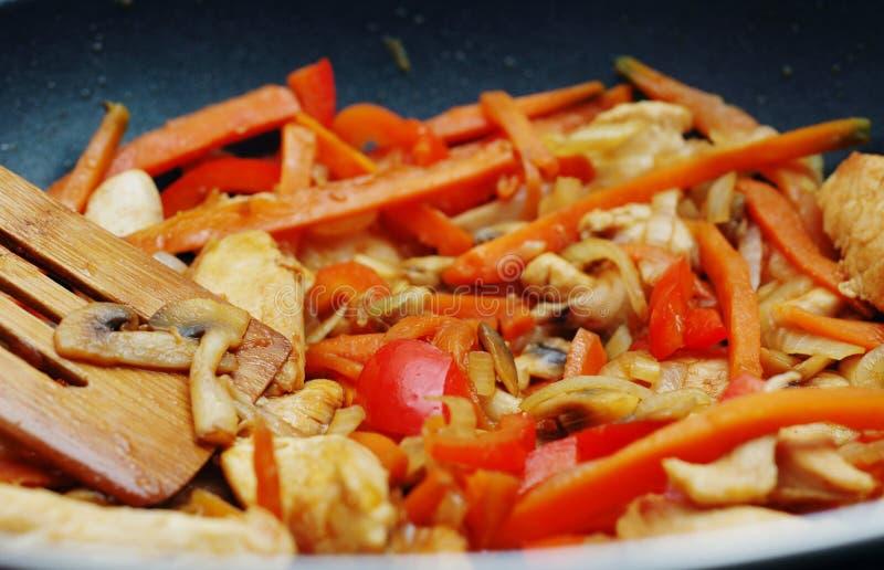 Alimento tailandese - frittura #5 di Stir fotografia stock libera da diritti
