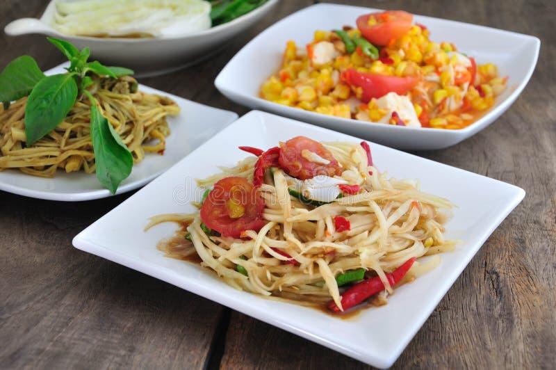Alimento tailandese piccante fotografie stock