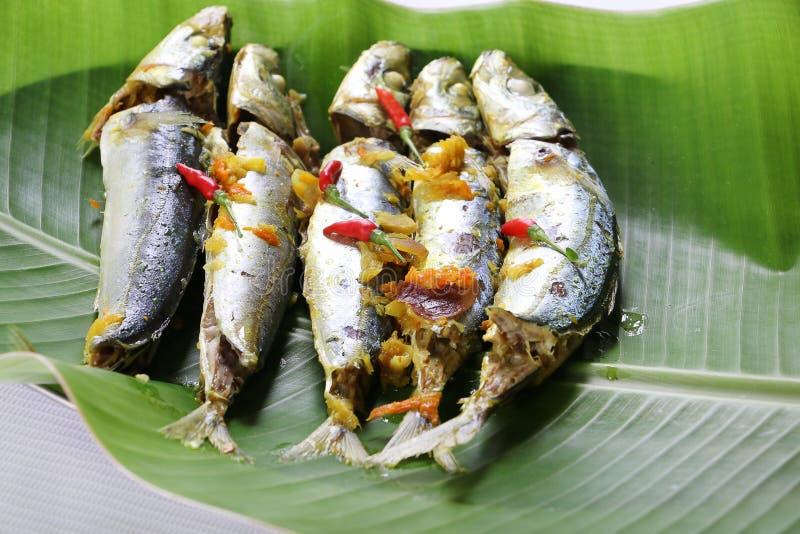 Alimento tradicional ampap do masak de Bornéu - de Ikan Basung imagens de stock royalty free