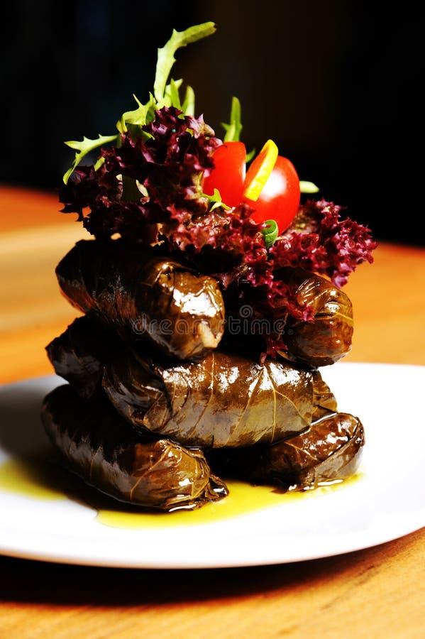 Alimento tradicional turco SARMA foto de stock royalty free