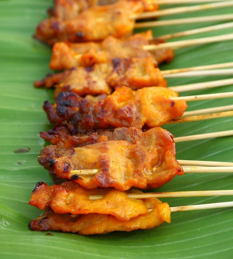 Download Carne De Porco Grelhada Satay Imagem de Stock - Imagem de delicioso, cozinhar: 29847063