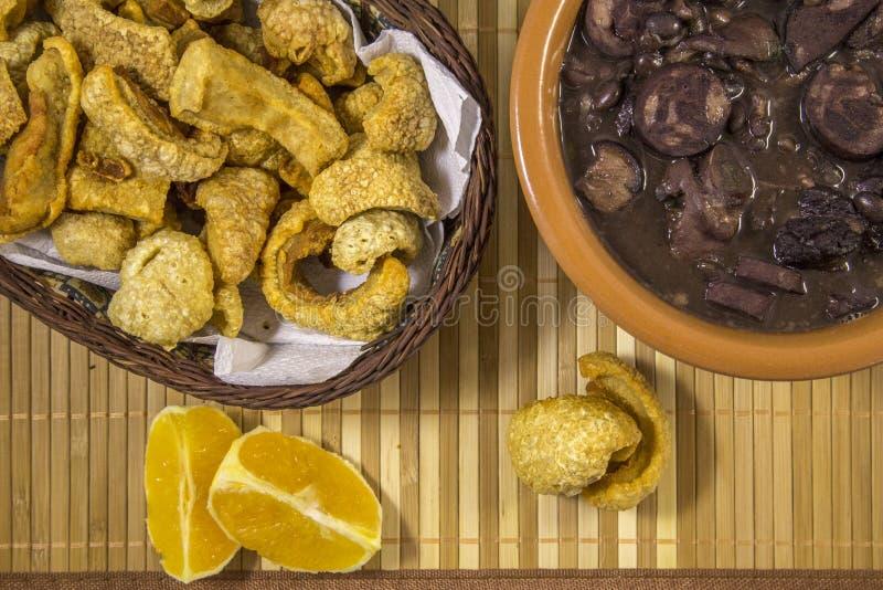 Alimento tradizionale brasiliano di Feijoada fotografie stock libere da diritti