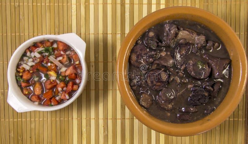 Alimento tradizionale brasiliano di Feijoada fotografie stock