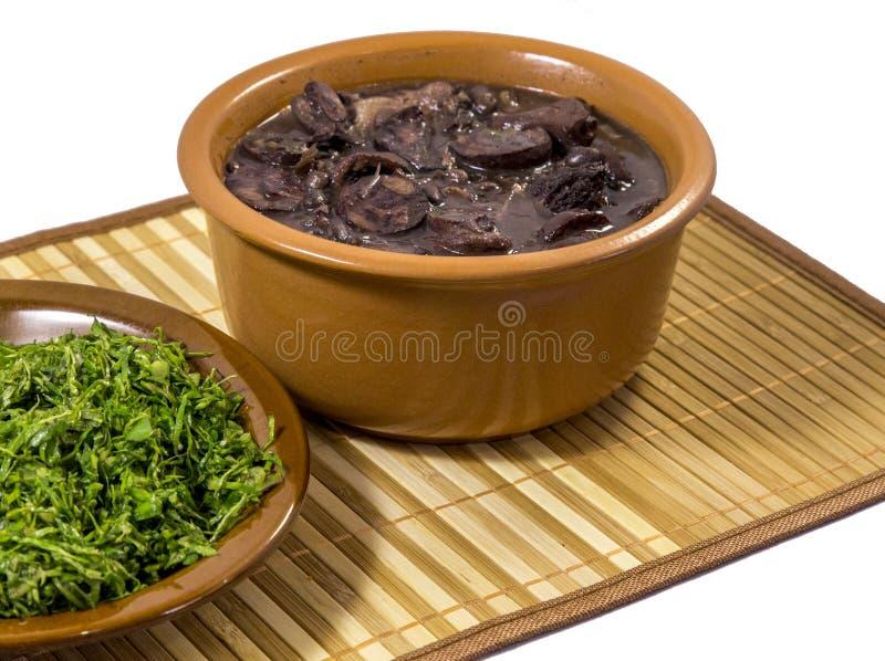 Alimento tradizionale brasiliano di Feijoada fotografia stock