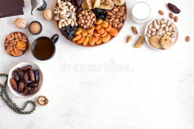 Alimento tradizionale di Iftar fotografia stock