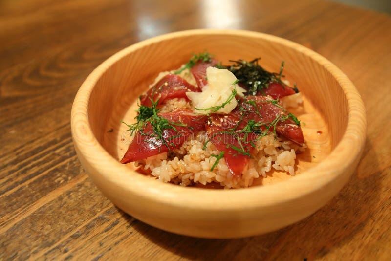 Alimento tradizionale giapponese Tekonesushi Ise Japan della ciotola di riso immagine stock libera da diritti