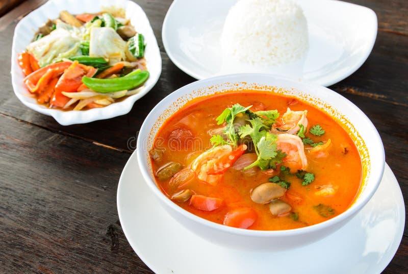 Alimento tradizionale tailandese (Tom Yum Goong) immagine stock libera da diritti