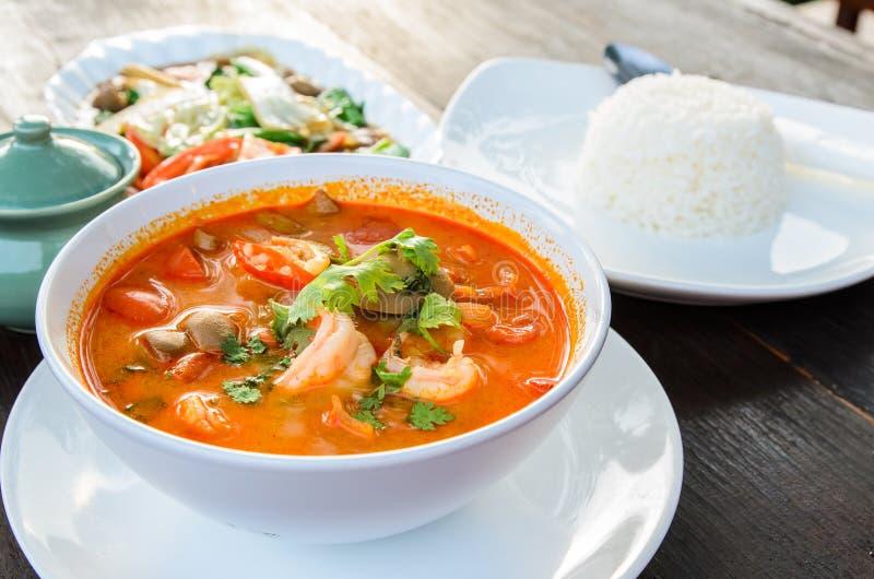 Alimento tradizionale tailandese (Tom Yum Goong) fotografia stock libera da diritti