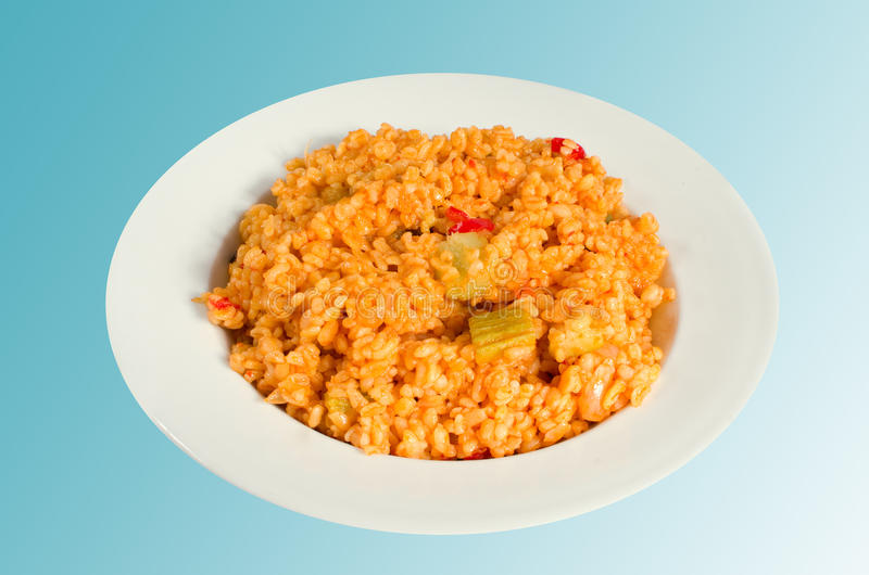 Alimento turco - Pilaf de Bulgur imagens de stock