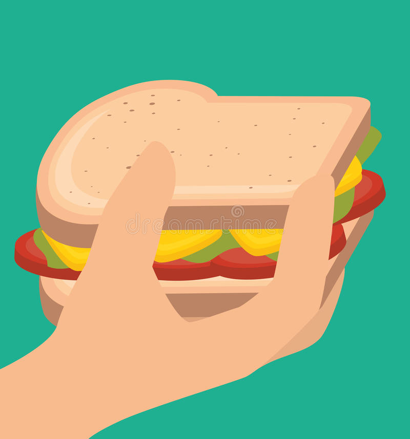 Alimento veloce e delizioso royalty illustrazione gratis