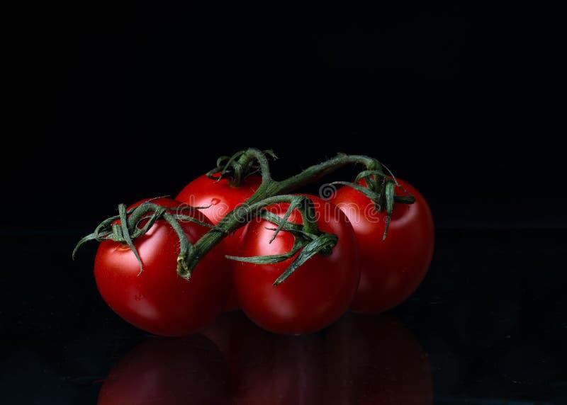 Alimento vermelho do vegetariano de quatro vegetais dos tomates imagens de stock
