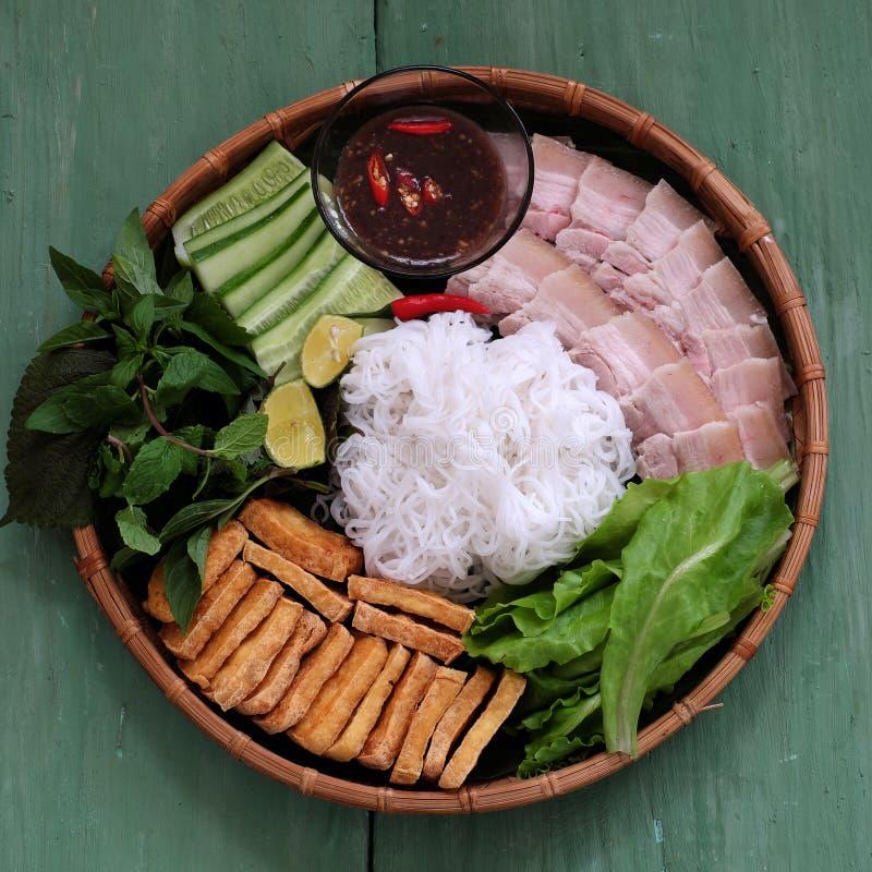 Alimento vietnamiano, mam tom do dau do bolo fotos de stock royalty free
