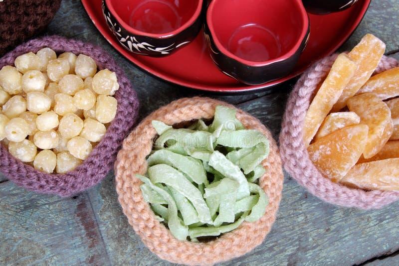 Alimento vietnamita, Tet, inceppamento, nuovo anno lunare del Vietnam immagini stock