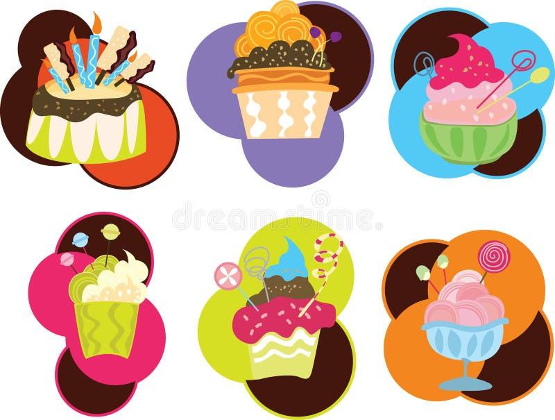 Alimento y Sweeties ilustración del vector